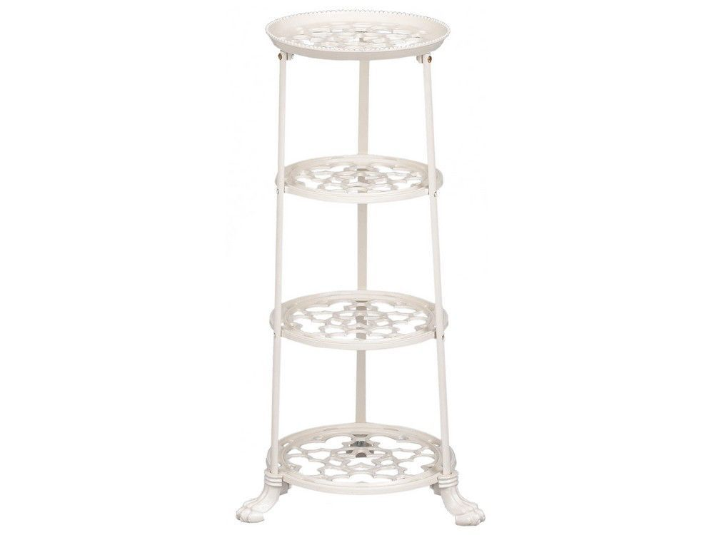 4 Tier Metal Pan Stand in Cream
