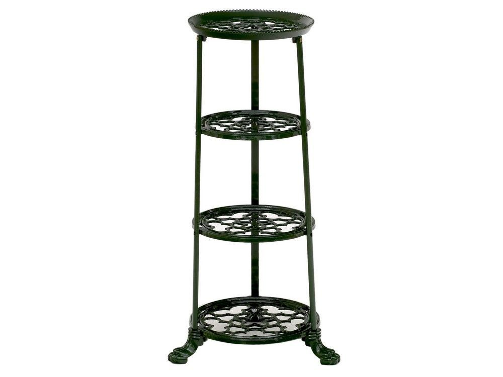 Uk so you know it s a quality kitchen accessory that s built to last - 4 Tier Metal Pan Stand In Green