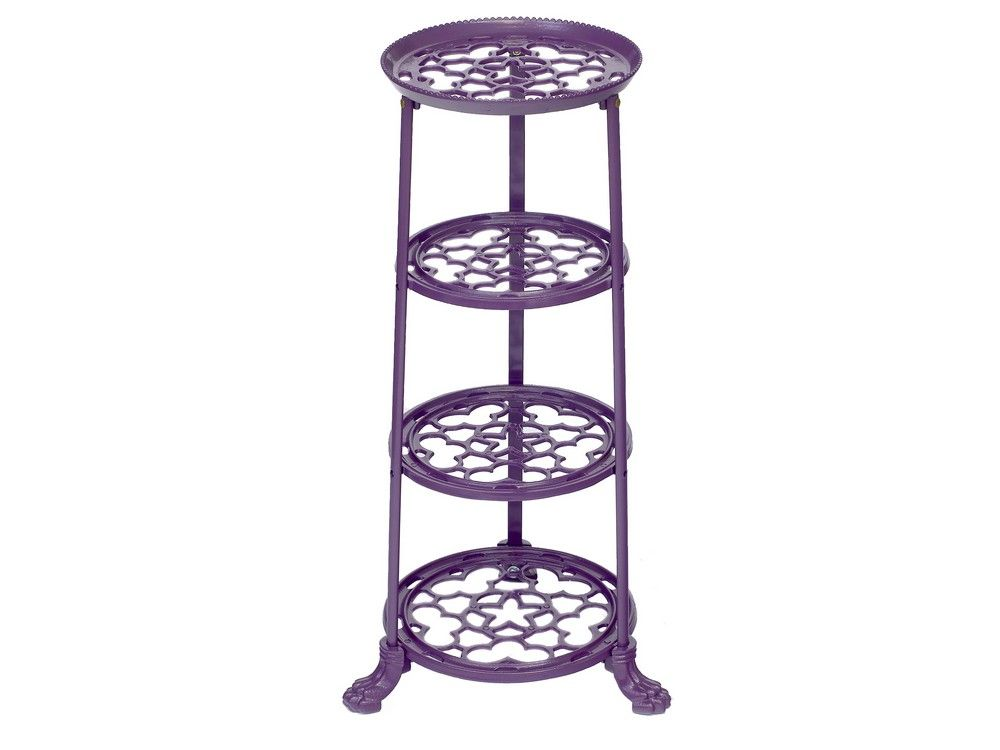 4 Tier Metal Pan Stand in Purple