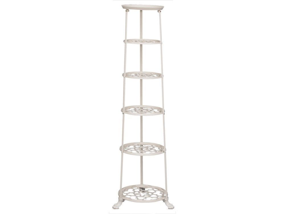 6 Tier Metal Pan Stand in Cream