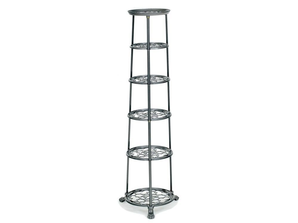 6 Tier Metal Pan Stand in Graphite Grey