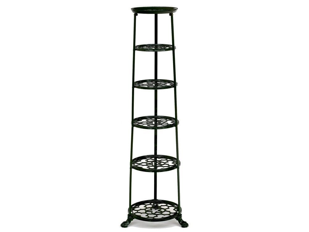 6 Tier Metal Pan Stand in Green