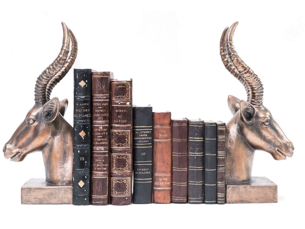 Antelope Bookends in Copper Finish