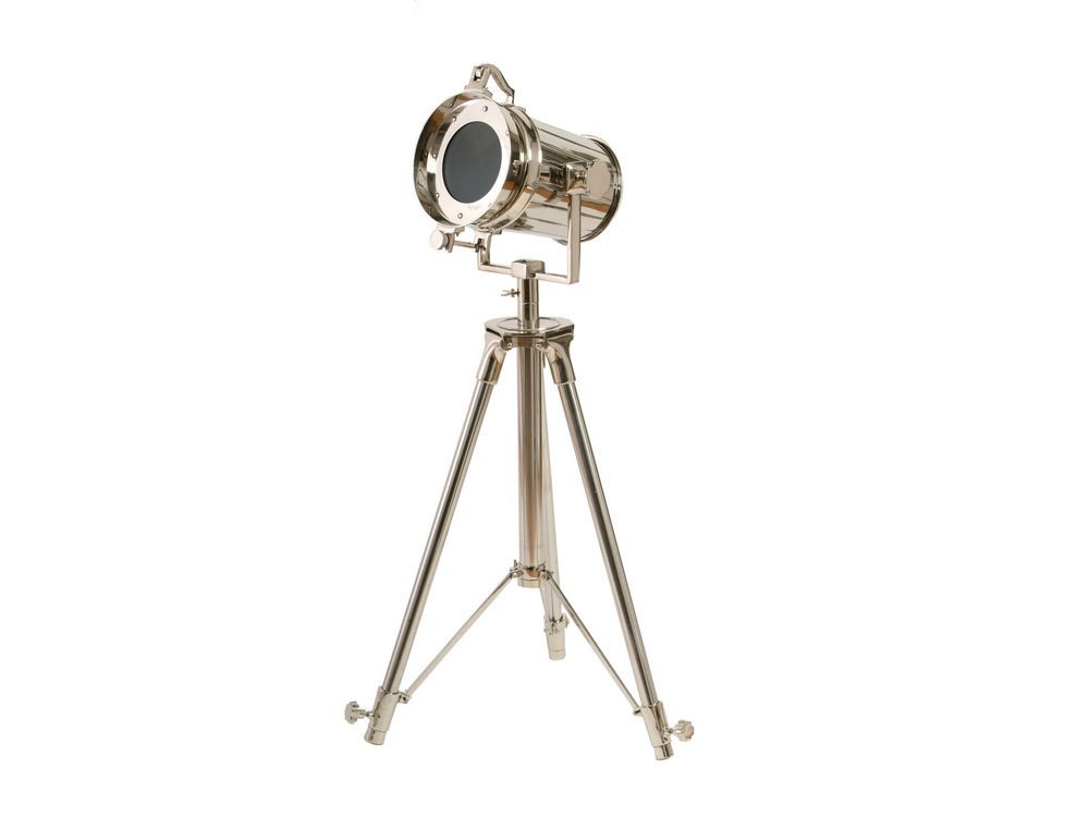 tripod spotlight | aluminium spotlight | metal tripod lamp | metal spotlight | chrome spotlight