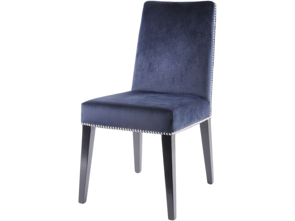 Twyford Navy Blue Upholstered Dining Chair