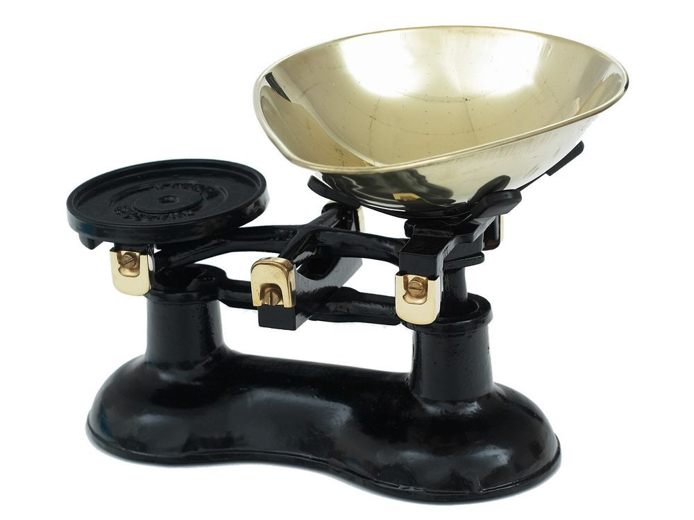 Black And Brass Kitchen Scales