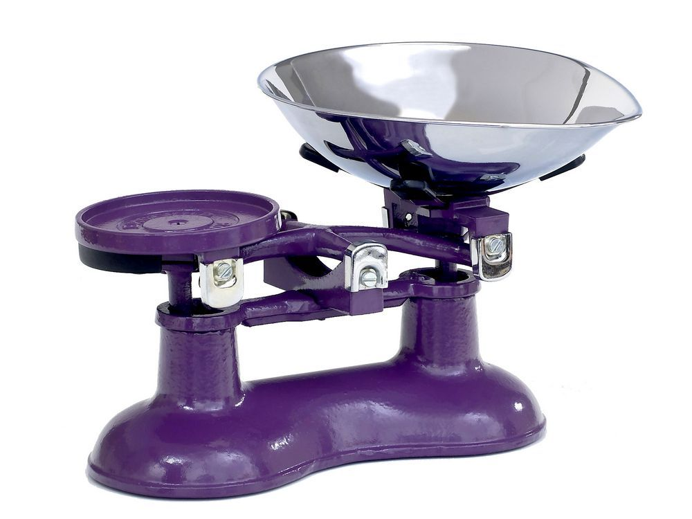 Victor Traditional Cast Iron Kitchen Scales In Purple