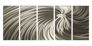 polished spiral wall hanging