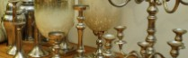 metal candlesticks