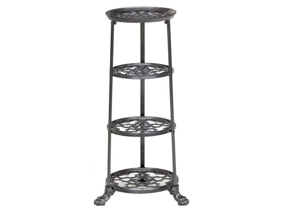 modern pan stand | kitchen pot tower | grey iron stand