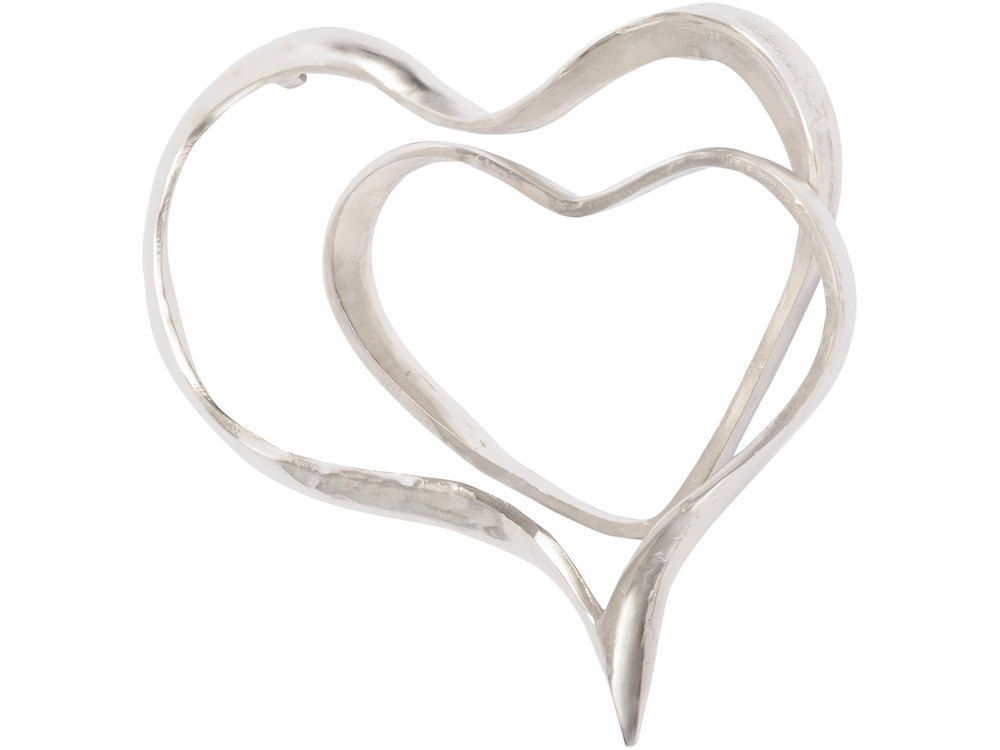 abstract silver heart wall sculpture | silver hearts metal wall hanging