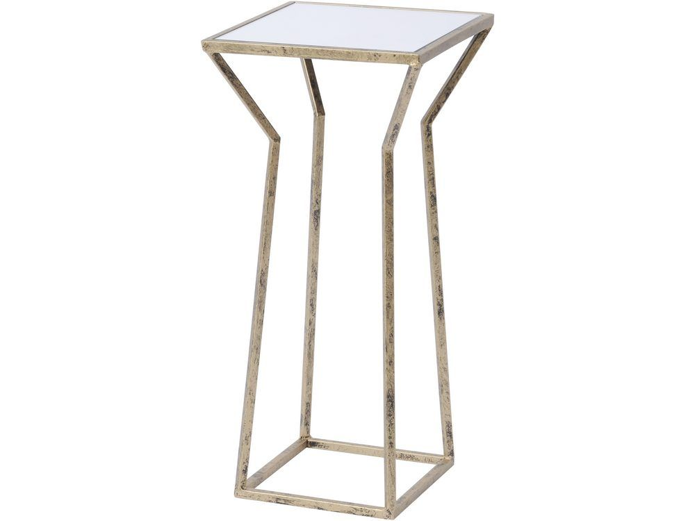 Rhonda Antique Gold Mirrored Side Table