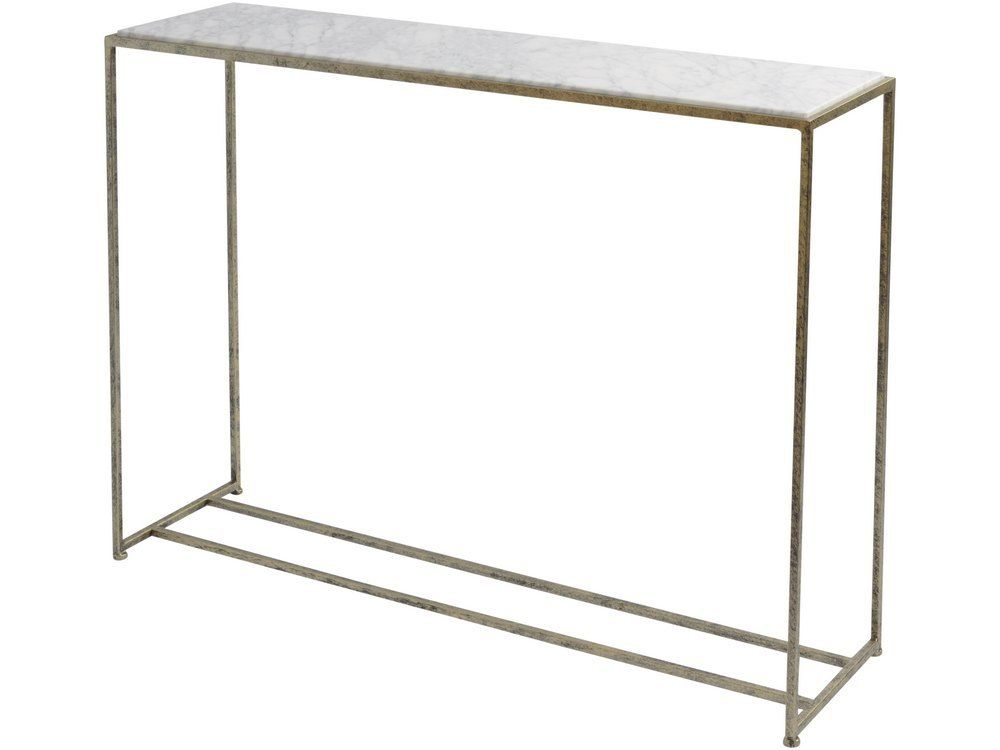 Grey Marble Console Table Slim Rectangular Marble Table