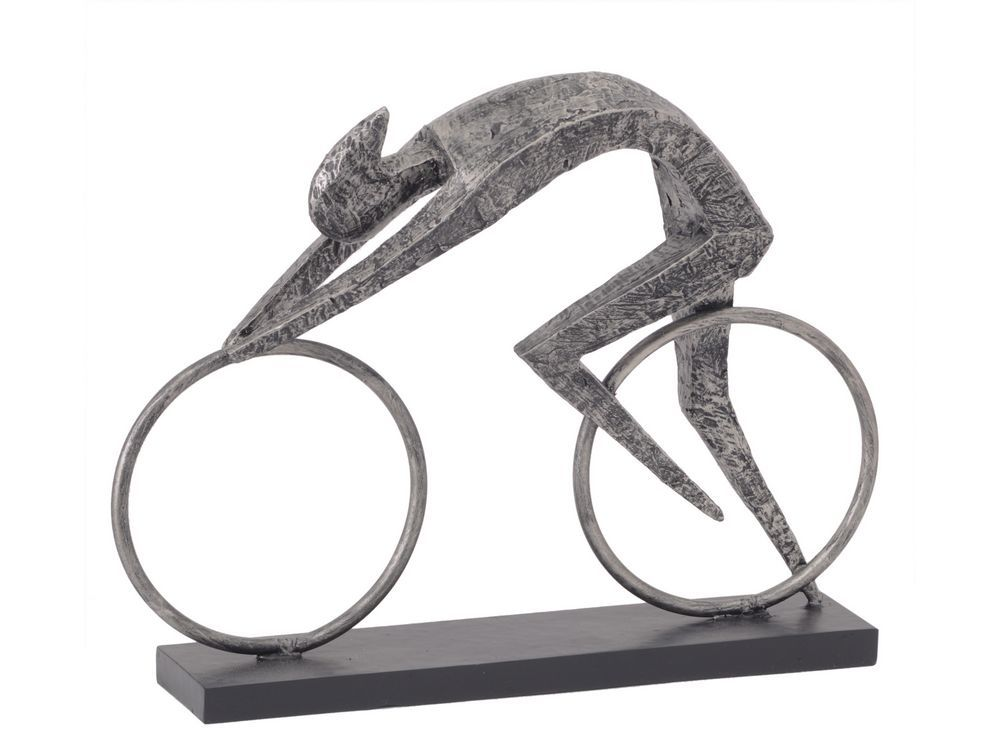 Abstract Racing Cyclist Sculpture