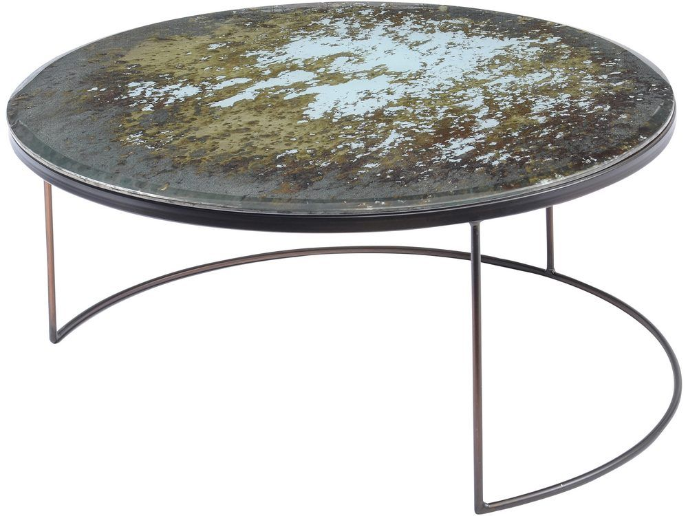 Brimstone Mottled Glass Top Coffee Table
