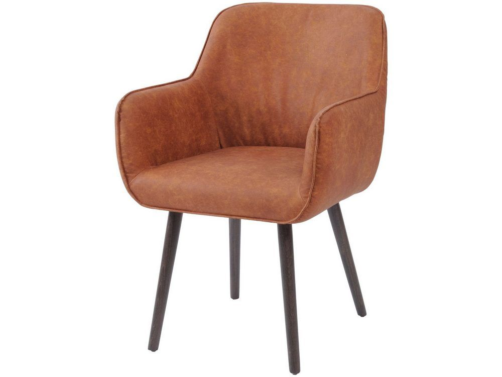 Calgary Tan Faux Leather Dining Chair With Arms
