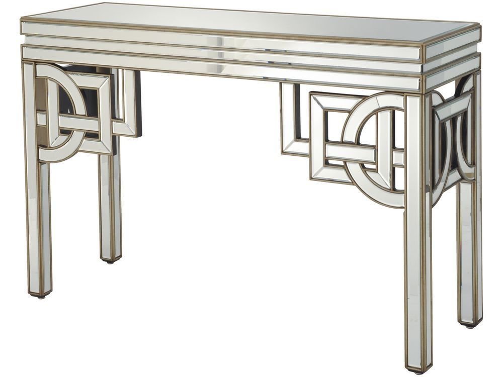 art deco mirrored console table | console table