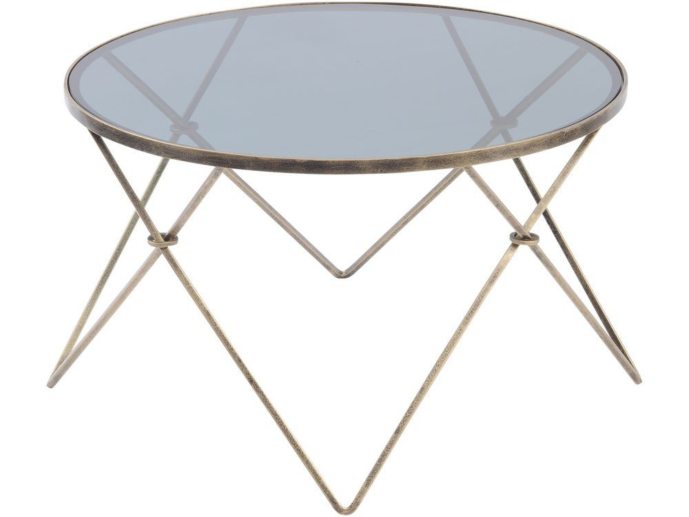 Conti Gold and Smoked Glass Coffee Table