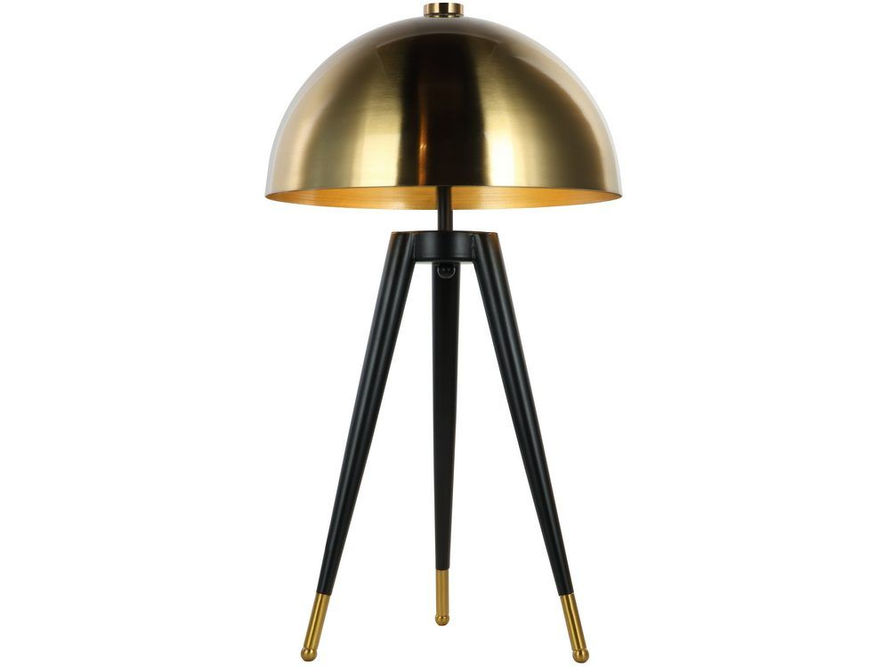 'Coppid Tripod Table Lamp with Brass Shade'