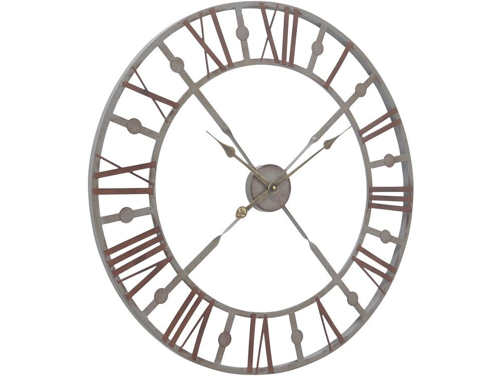 Skeleton Wall Clock Vintage Metal Skeleton Clock