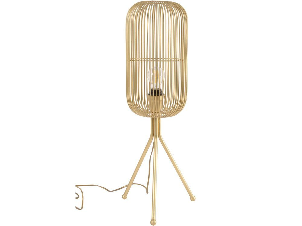 Edie Gold Cage Tripod Lamp