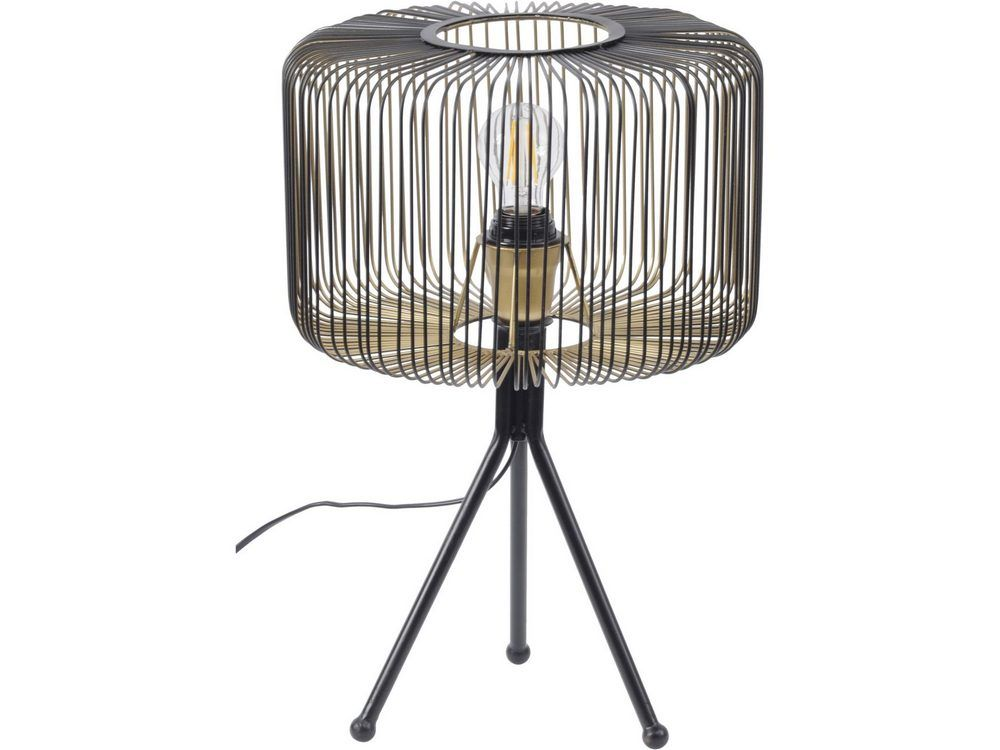 'Faraday Black and Gold Cage Tripod Table Lamp'