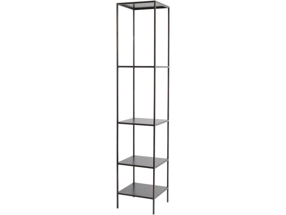 'Fitzroy Tall Modular Shelving Unit in Bronze Finish - Left'
