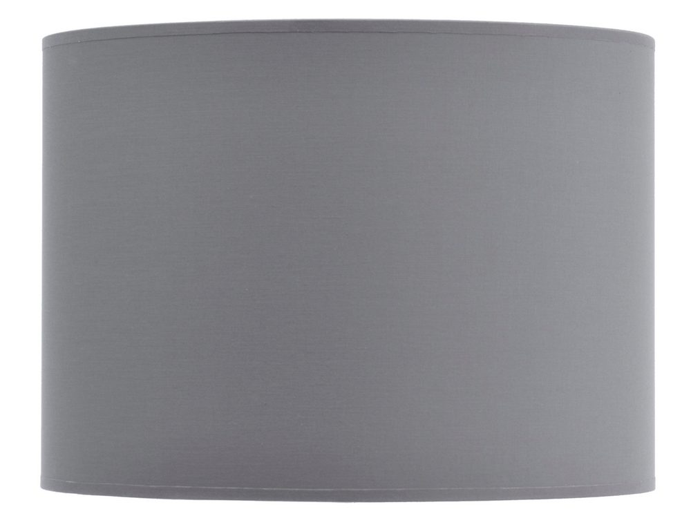 Product photograph showing Grey And Silver Lined Drum Lampshade 14