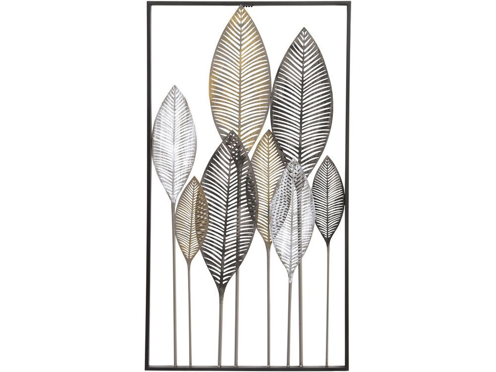 leaves metal wall art | exotic leaf metal wall decor