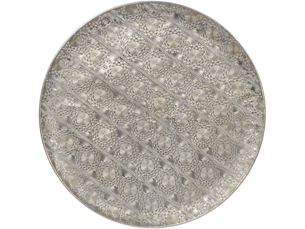 Antique Silver Disc Wall Art Round Souk Metal Hanging