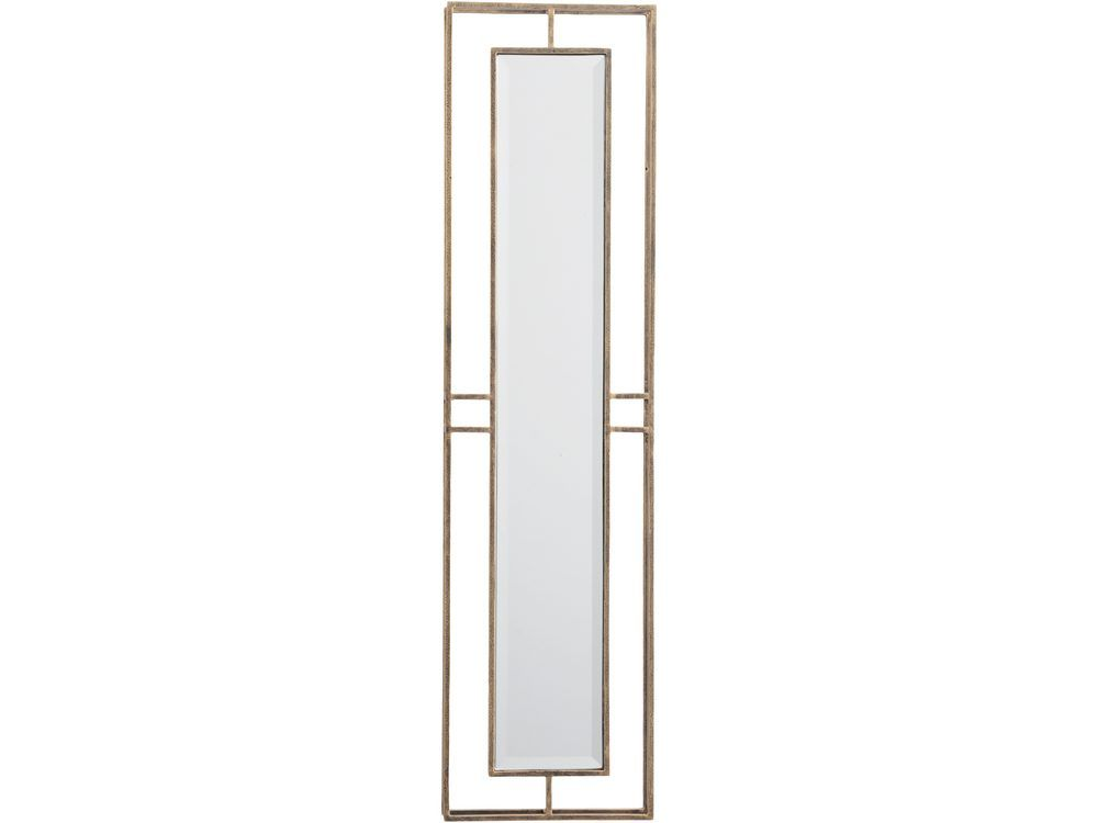 Rhodes Double Frame Tall Wall Mirror in Antique Gold