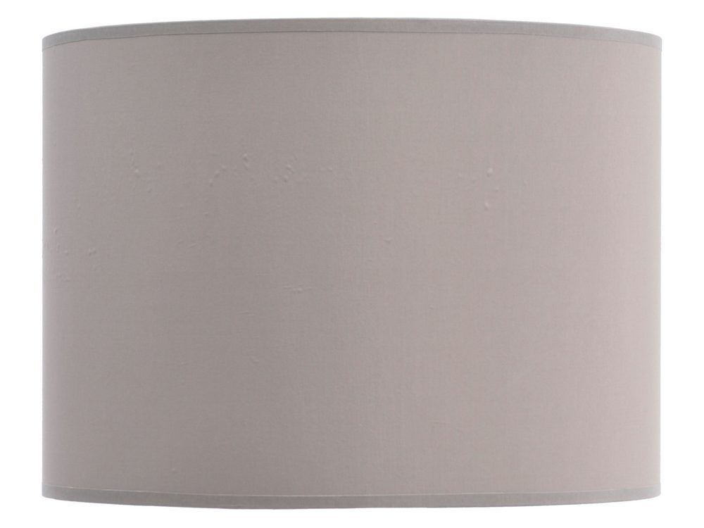 'Taupe and Champagne Lined Drum Lampshade 14