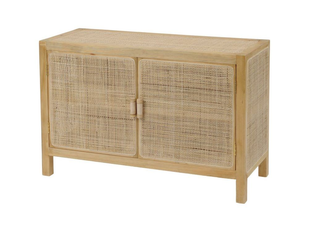 Toba Rattan and Cane Two Door Cabinet