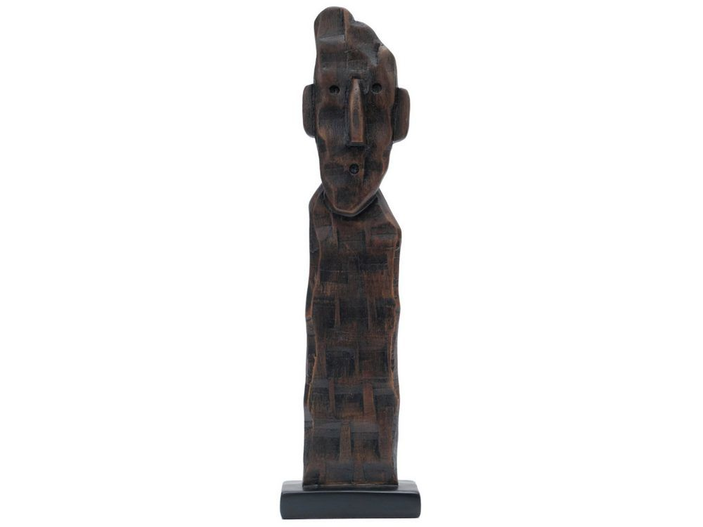 'Tower Head Tribal Figure in Wood Finish'