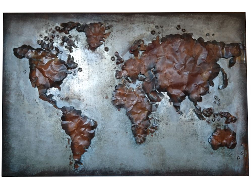 Abstract metal world map rusty world wall hanging click to expand gumiabroncs Images